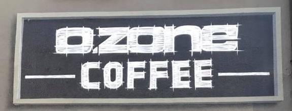 Schriftzug Logo Café Shop Ozone Coffee