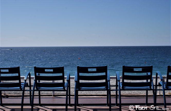 Blau Stuhl Nizza