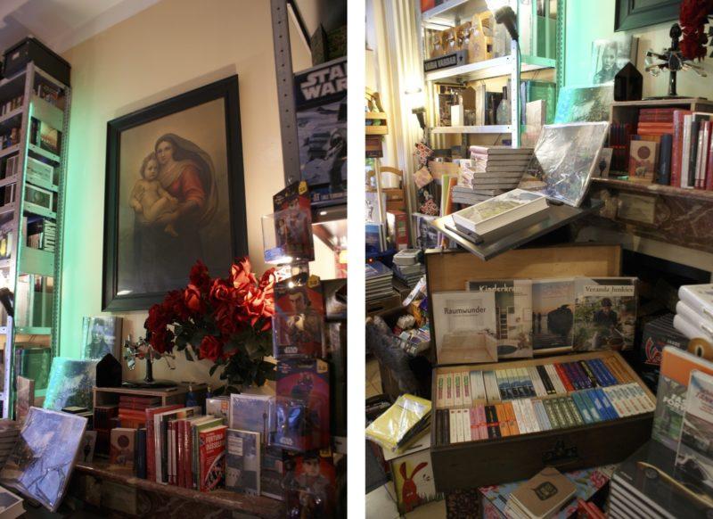 Der Kamin, klassiche Bilder und viele, viele Bücher