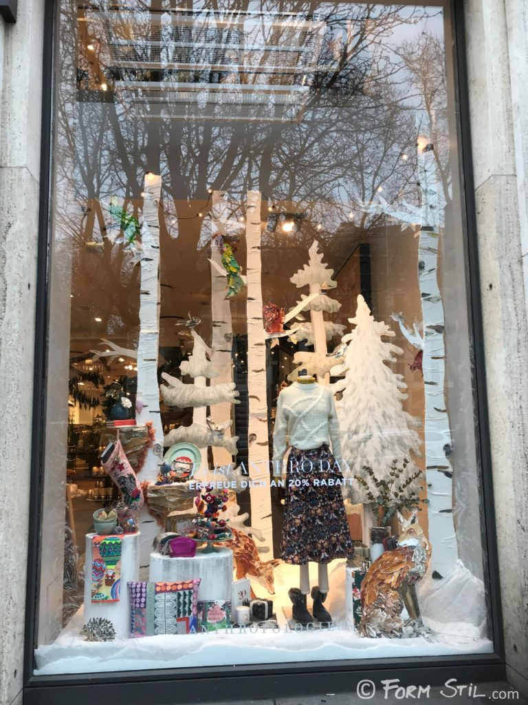 Anthropologie Kö Shop Store Shopwindow Schaufenster Deko Dekoration Weihnachten
