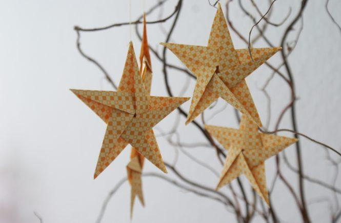 Sterne DIY Weihnachten Xmas Christmas Weihnachtsstern Deko Inspiration