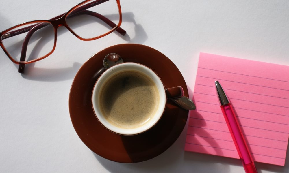 kaffee kaffeepause inspiration pläne planung frühling stilleben