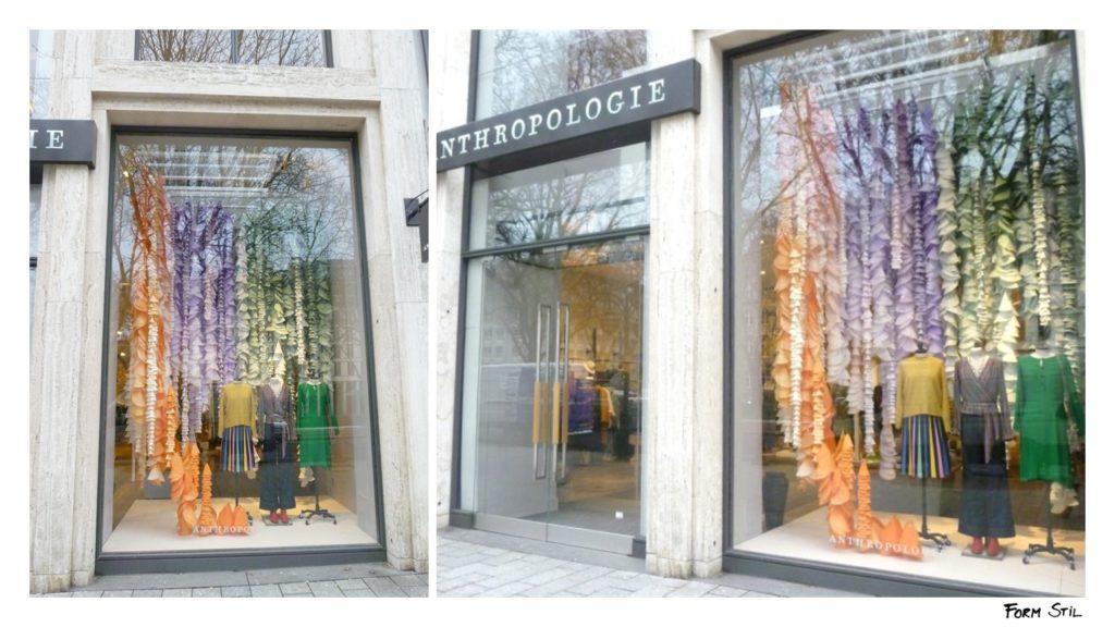 Schaufenster-Deko Deko-Kunst im Frühling Düsseldorf Anthropologie