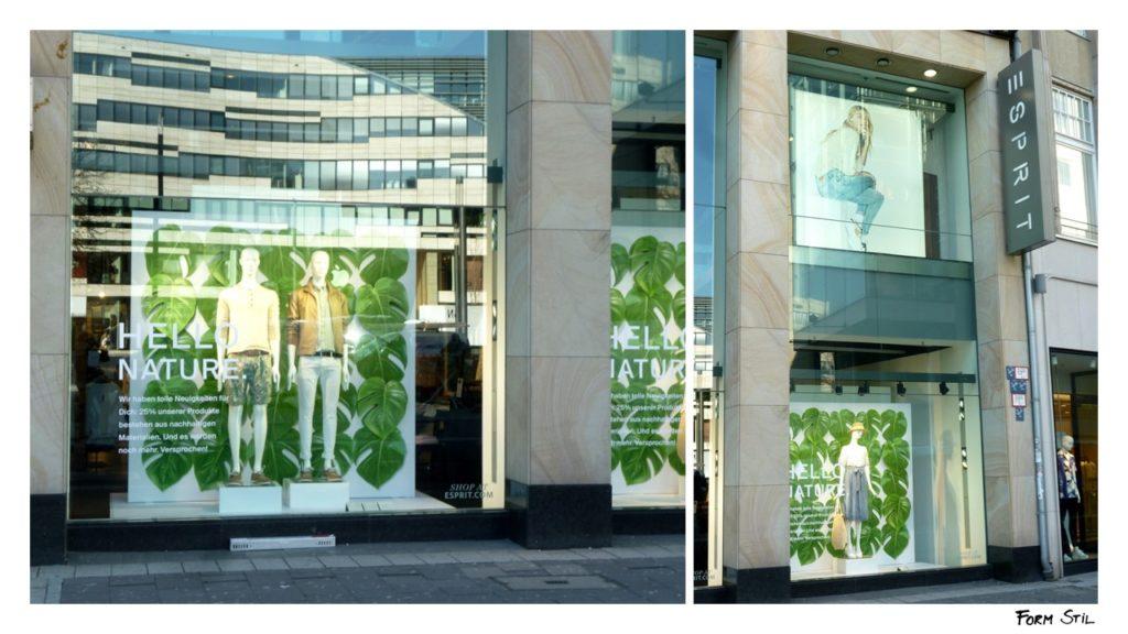 Schaufenster-Deko Deko-Kunst im Frühling Düsseldorf Esprit