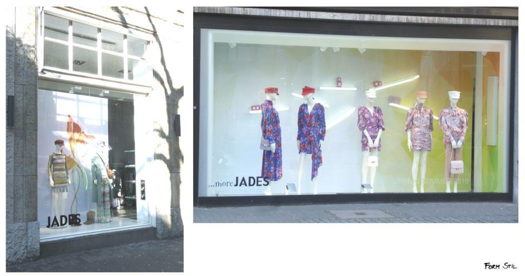 Schaufenster-Deko Deko-Kunst im Frühling Düsseldorf Jades