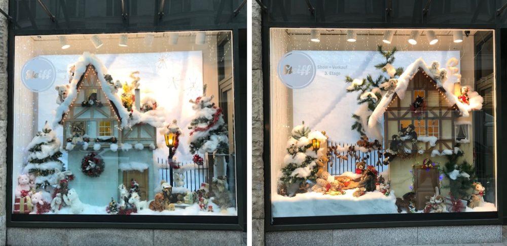 Schaufenster Deko Weihnachten Steiff