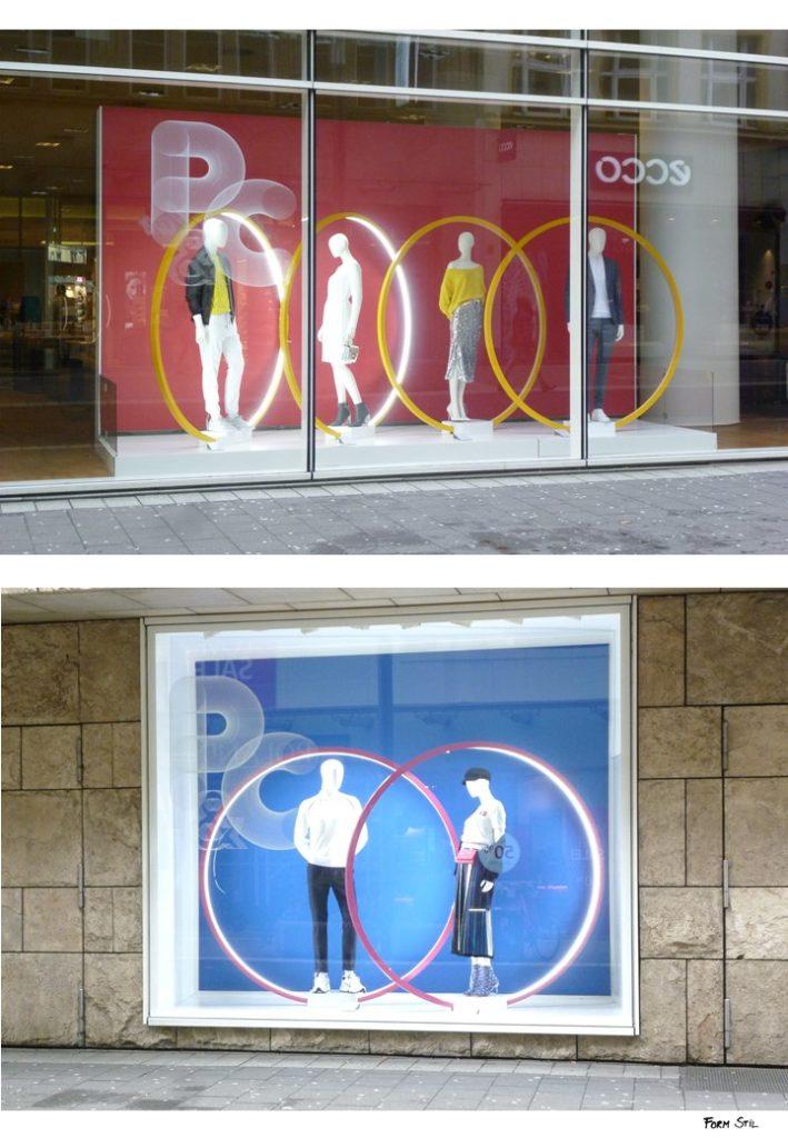 Schaufenster-Deko Deko-Kunst im Frühling Düsseldorf Peek&Cloppenburg